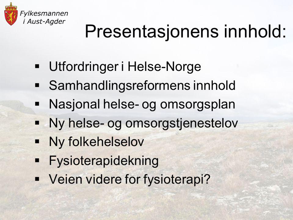 Presentasjonens innhold:
