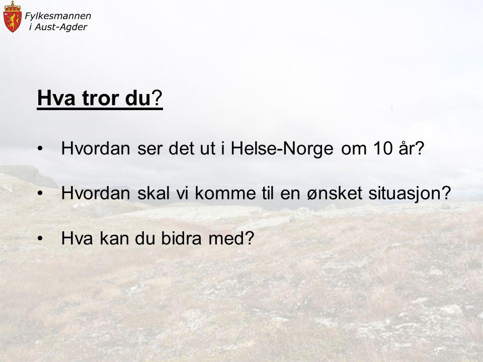 Hva tror du Hvordan ser det ut i Helse-Norge om 10 år