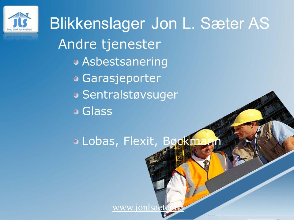 Andre tjenester Asbestsanering Garasjeporter Sentralstøvsuger Glass