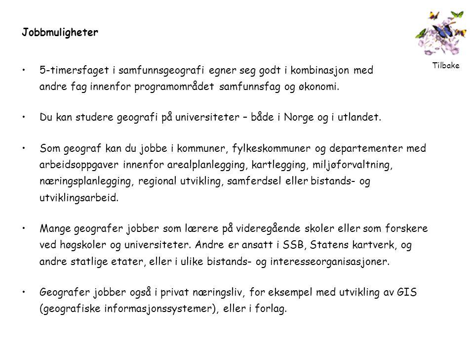 Du kan studere geografi på universiteter – både i Norge og i utlandet.