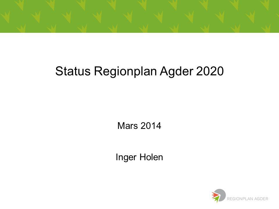 Status Regionplan Agder 2020