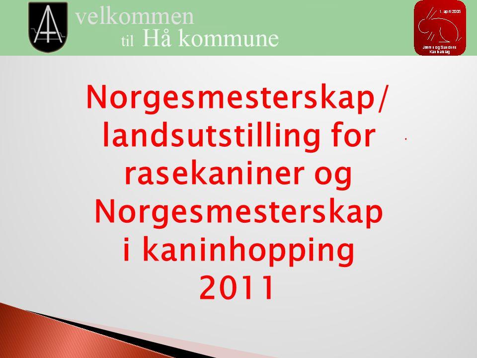 Norgesmesterskap/ landsutstilling for rasekaniner og Norgesmesterskap