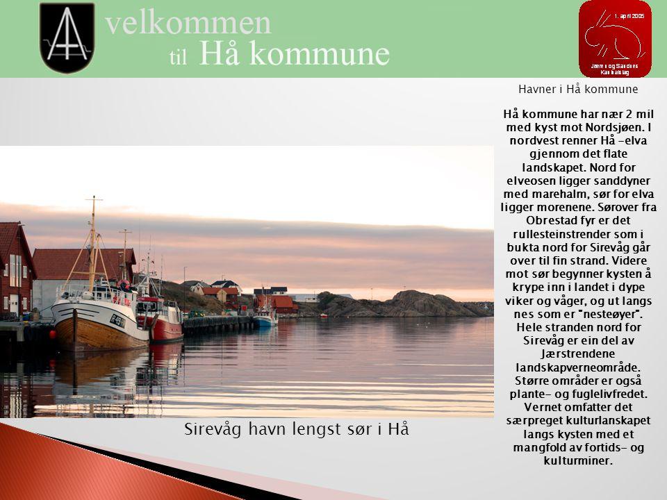 Sirevåg havn lengst sør i Hå