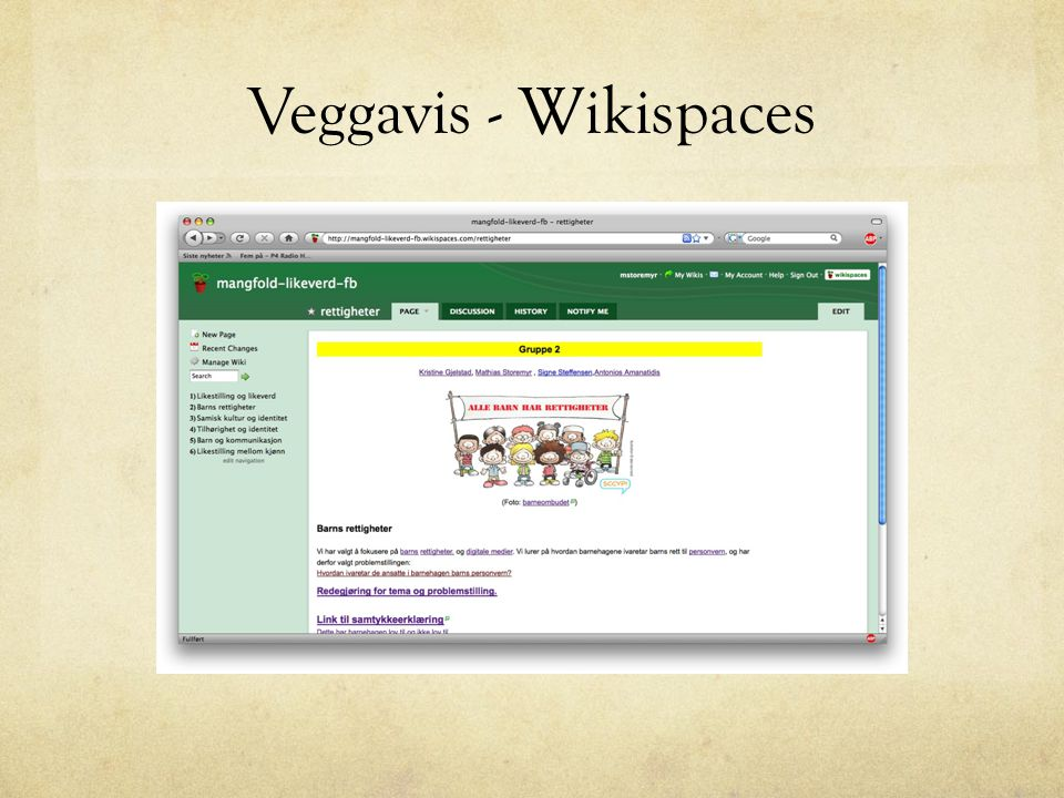 Veggavis - Wikispaces