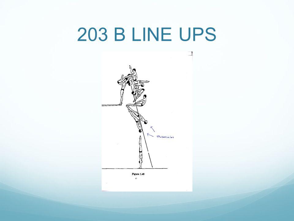 203 B LINE UPS