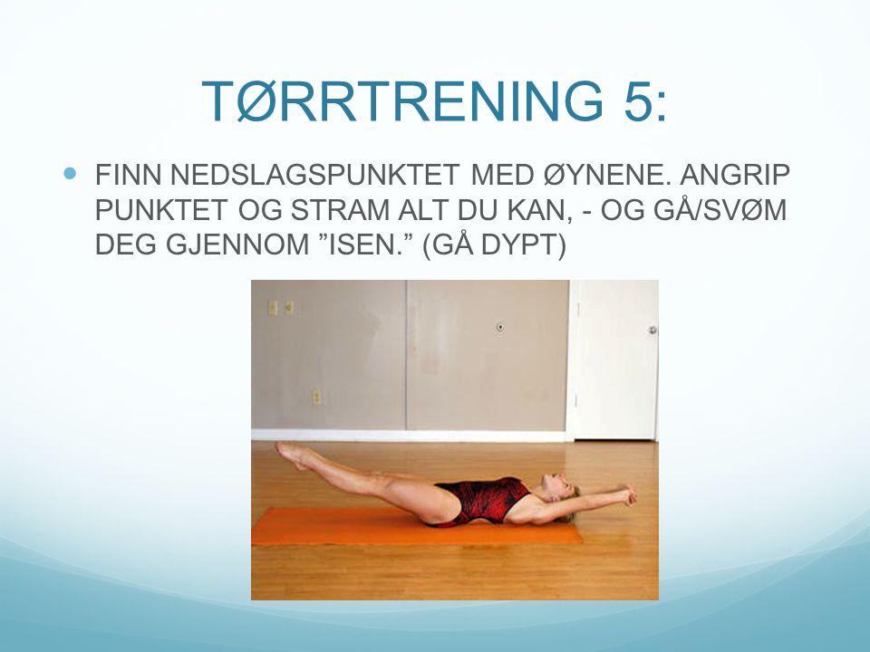 TØRRTRENING 5: FINN NEDSLAGSPUNKTET MED ØYNENE.