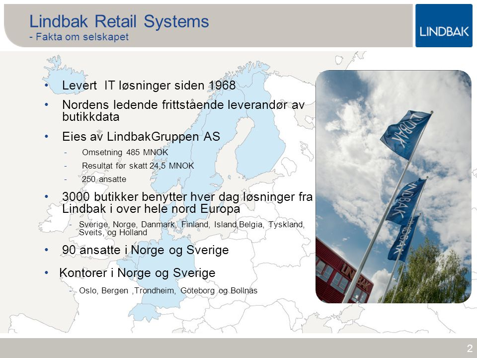 Lindbak Retail Systems - Fakta om selskapet