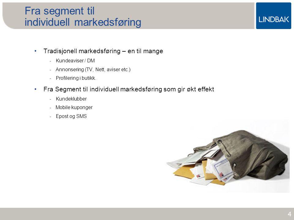 Fra segment til individuell markedsføring