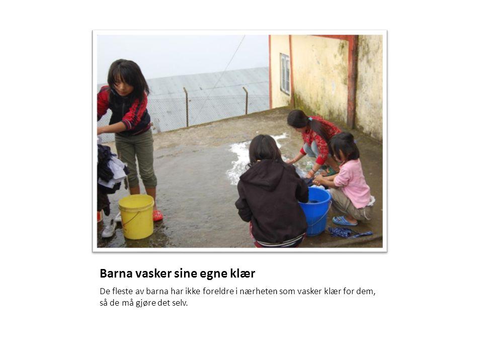Barna vasker sine egne klær