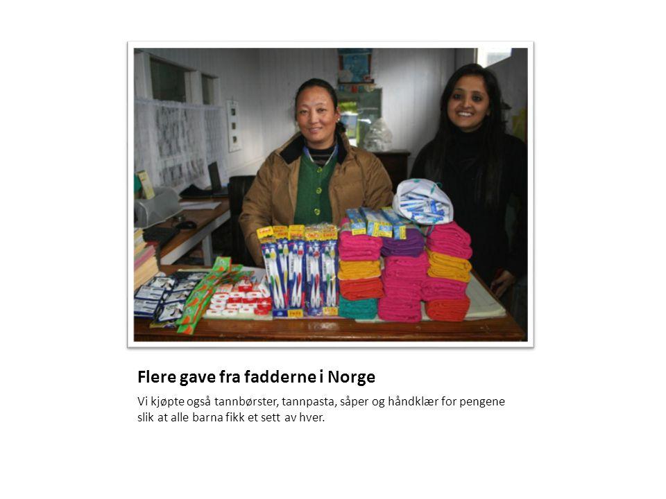 Flere gave fra fadderne i Norge