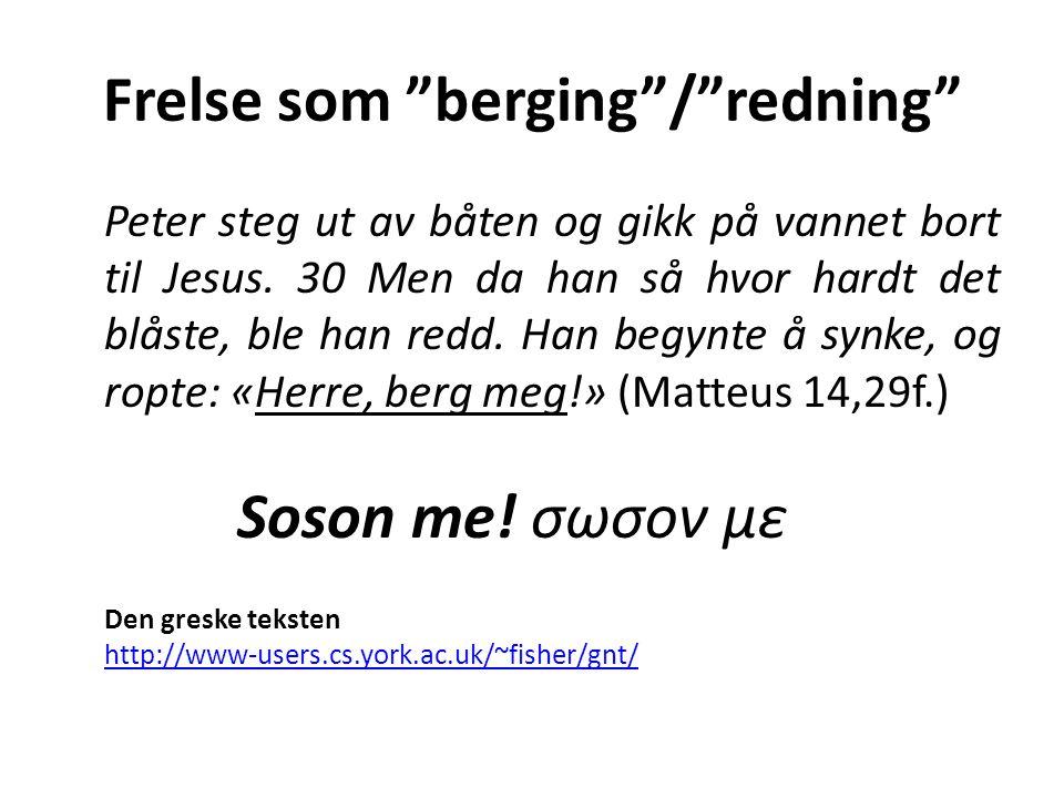 Frelse som berging / redning