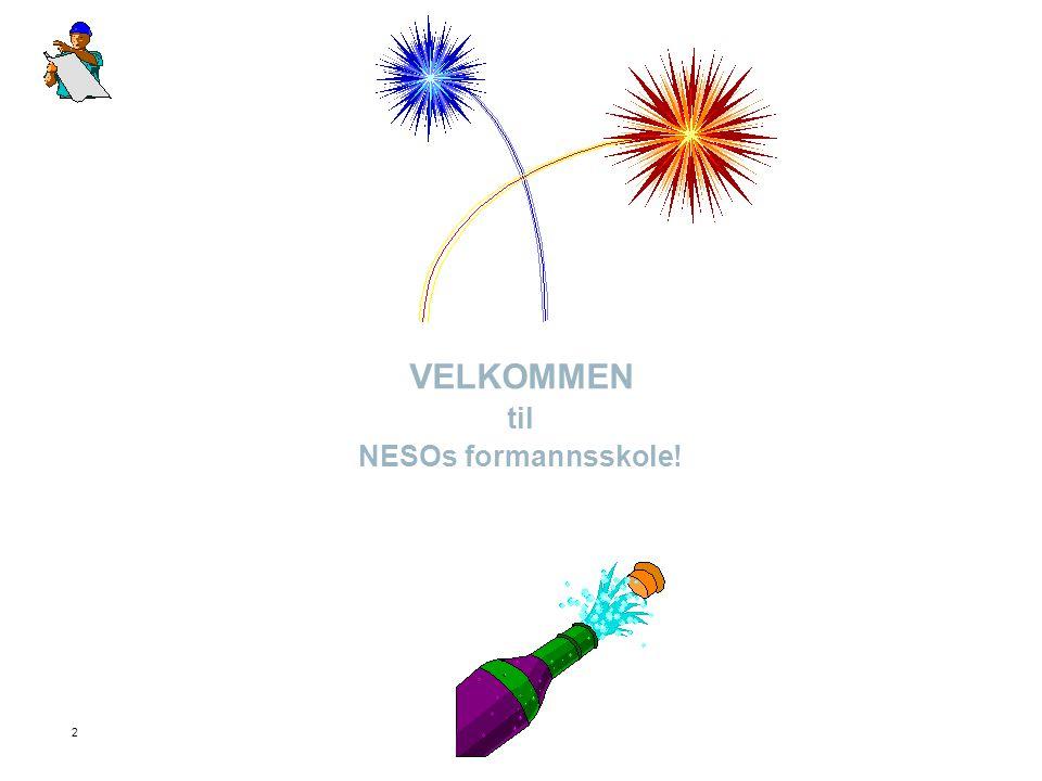 VELKOMMEN til NESOs formannsskole!