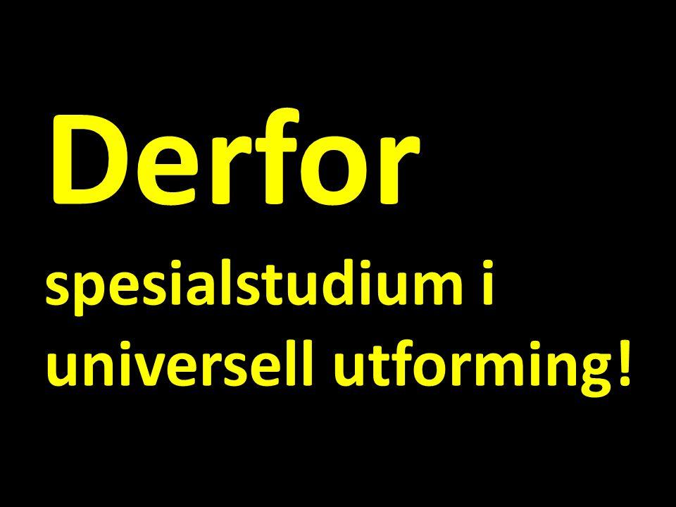 Derfor spesialstudium i universell utforming!