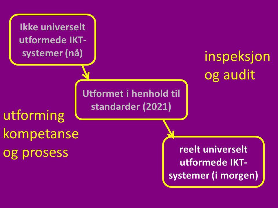 inspeksjon og audit utforming kompetanse og prosess