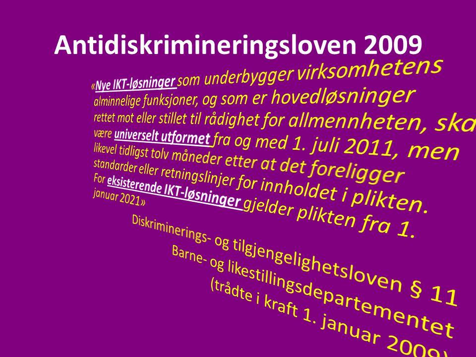 Antidiskrimineringsloven 2009