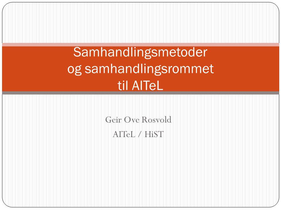 Samhandlingsmetoder og samhandlingsrommet til AITeL