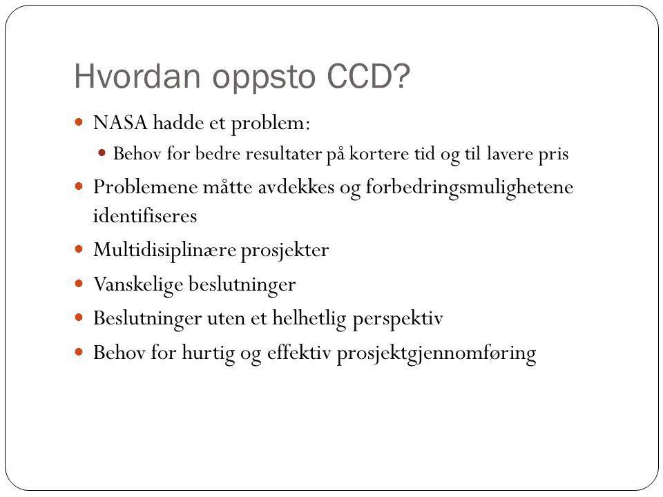 Hvordan oppsto CCD NASA hadde et problem: