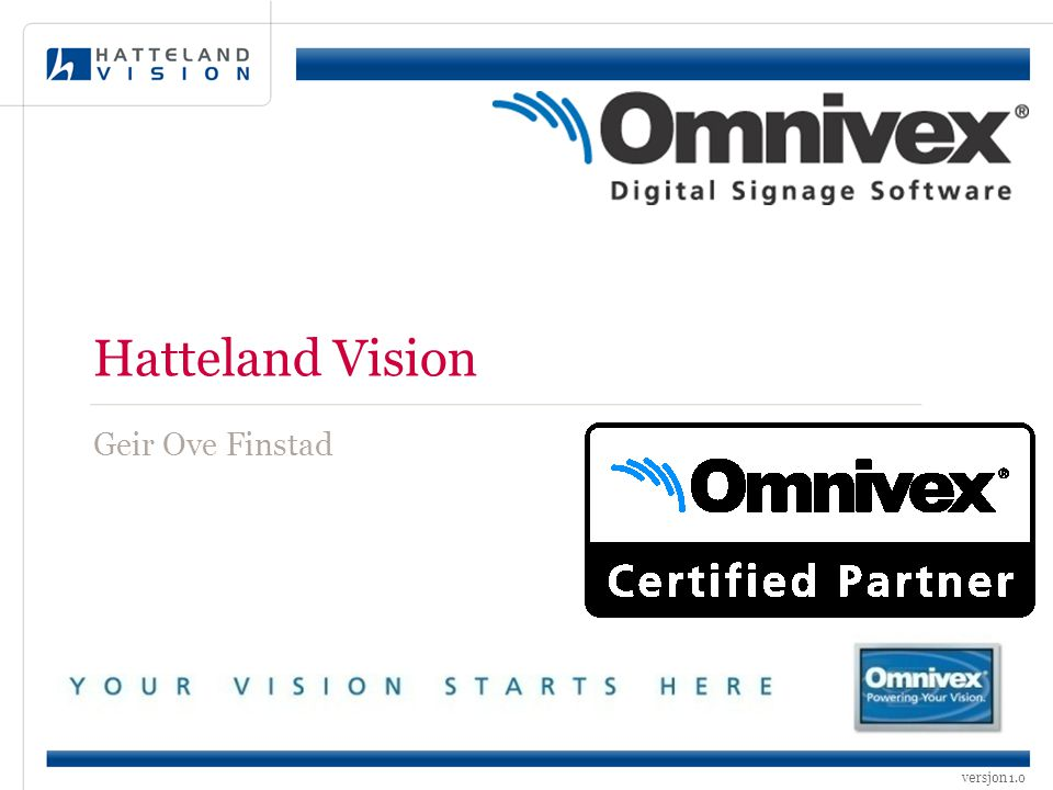 Hatteland Vision Geir Ove Finstad