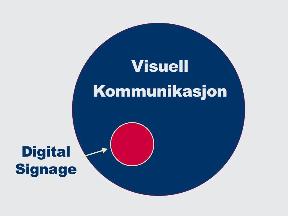 Visuell Kommunikasjon Digital Signage