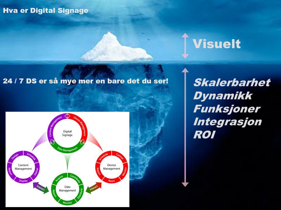 Visuelt Skalerbarhet Dynamikk Funksjoner Integrasjon ROI