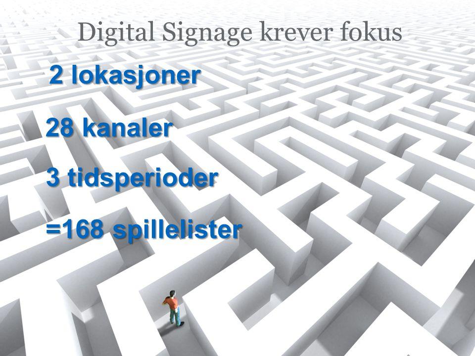 Digital Signage krever fokus