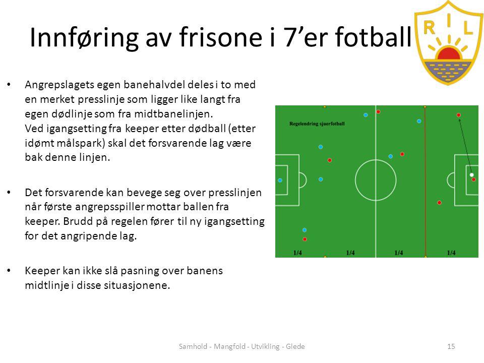Innføring av frisone i 7'er fotball