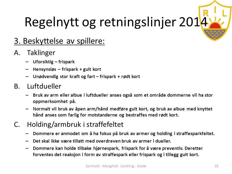 Regelnytt og retningslinjer 2014