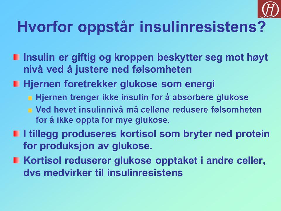 Hvorfor oppstår insulinresistens