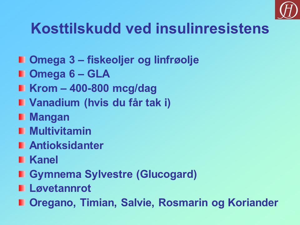 Kosttilskudd ved insulinresistens