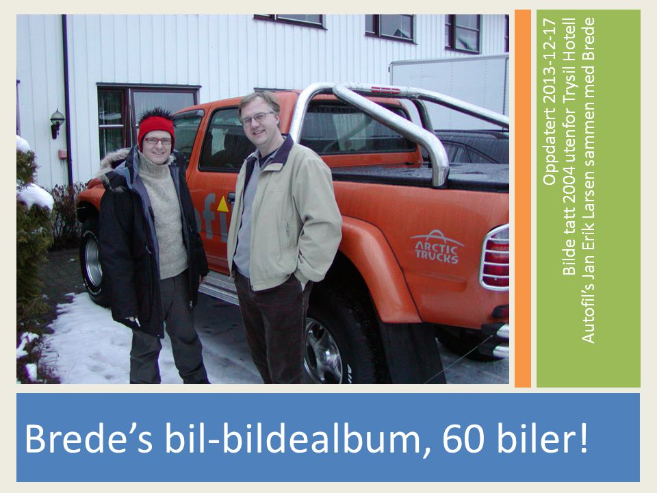 Brede's bil-bildealbum, 60 biler!