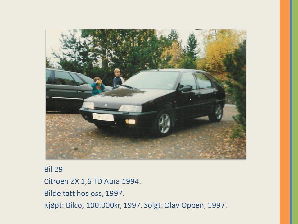 Bil 29 Citroen ZX 1,6 TD Aura 1994. Bilde tatt hos oss, 1997.