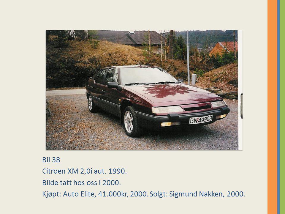 Bil 38 Citroen XM 2,0i aut. 1990. Bilde tatt hos oss i 2000.