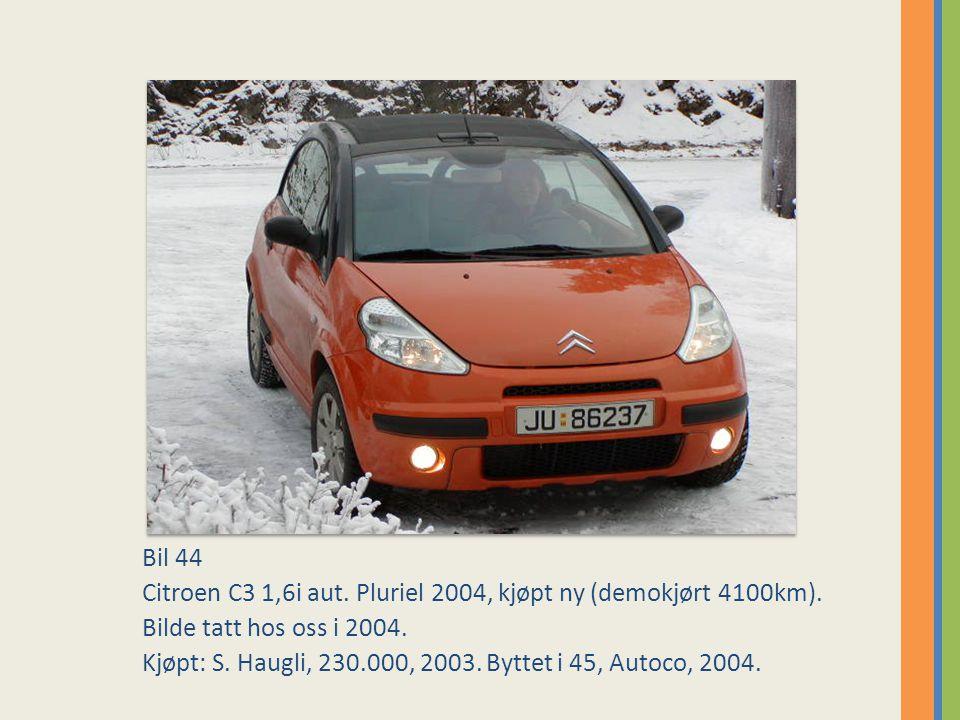 Bil 44 Citroen C3 1,6i aut. Pluriel 2004, kjøpt ny (demokjørt 4100km). Bilde tatt hos oss i 2004.