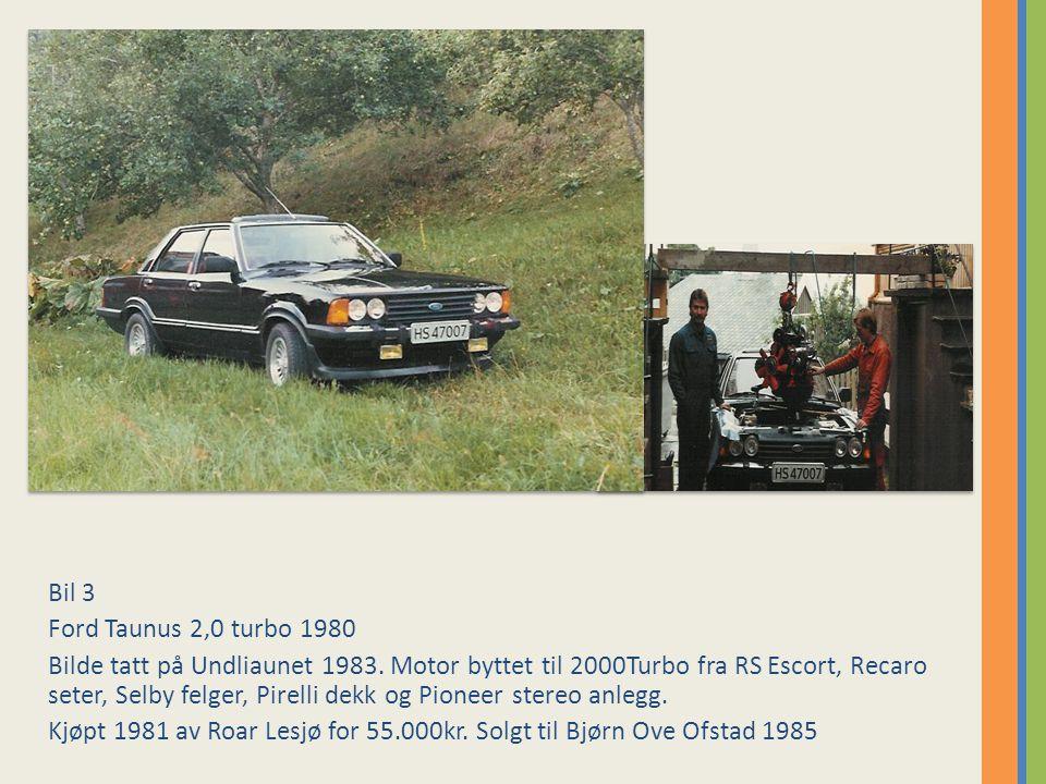 Bil 3 Ford Taunus 2,0 turbo 1980.