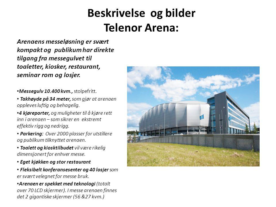 Beskrivelse og bilder Telenor Arena: