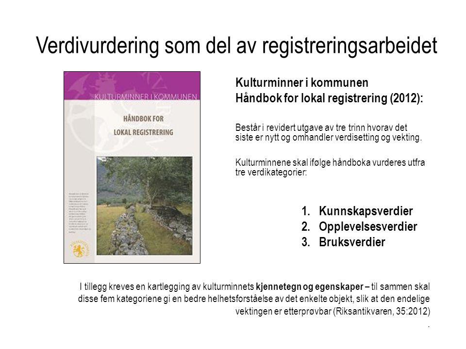 Verdivurdering som del av registreringsarbeidet