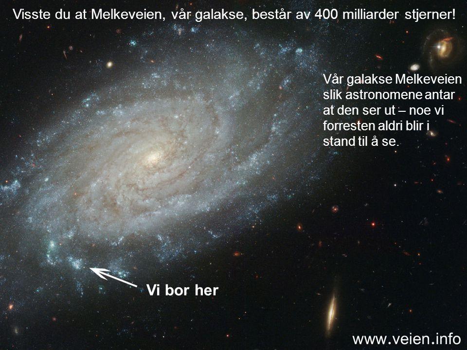 Visste du at Melkeveien, vår galakse, består av 400 milliarder stjerner!
