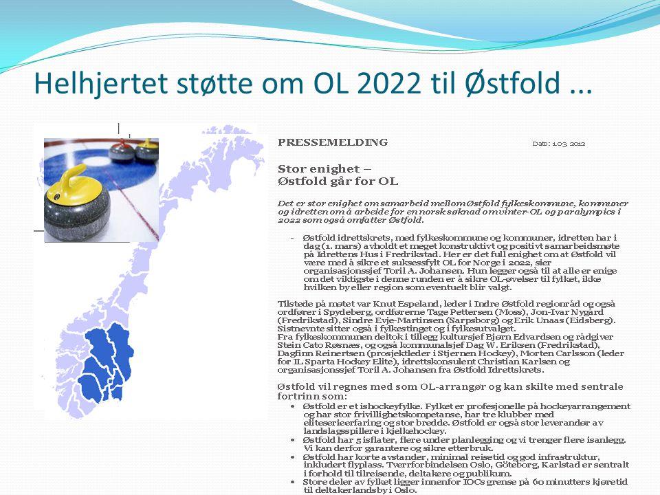 Helhjertet støtte om OL 2022 til Østfold ...