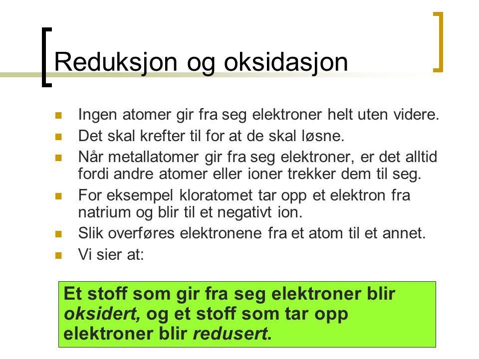 Reduksjon og oksidasjon