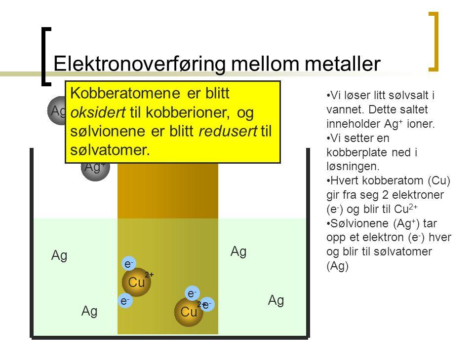 Elektronoverføring mellom metaller