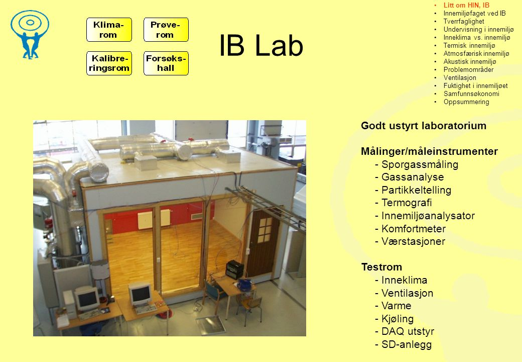 IB Lab Godt ustyrt laboratorium Målinger/måleinstrumenter