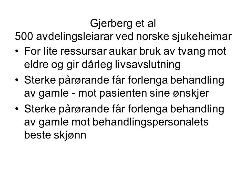 Gjerberg et al 500 avdelingsleiarar ved norske sjukeheimar