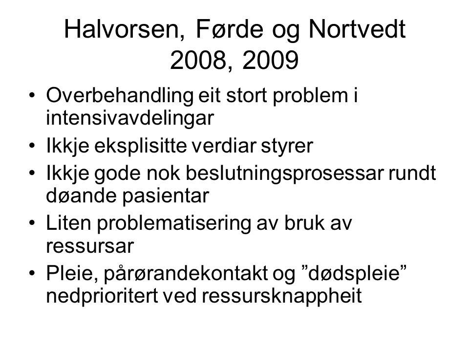 Halvorsen, Førde og Nortvedt 2008, 2009
