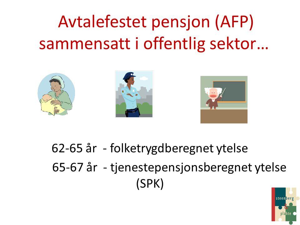 Avtalefestet pensjon (AFP) sammensatt i offentlig sektor…