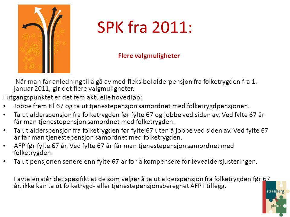 SPK fra 2011: Flere valgmuligheter