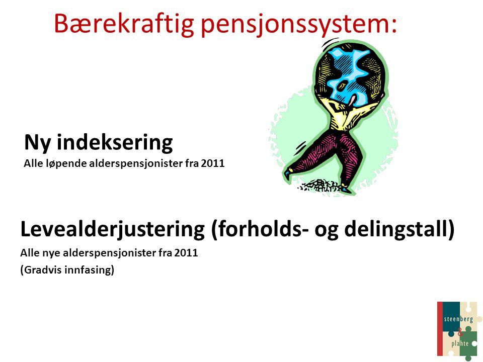 Bærekraftig pensjonssystem: