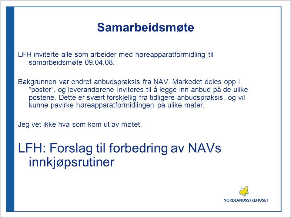 LFH: Forslag til forbedring av NAVs innkjøpsrutiner