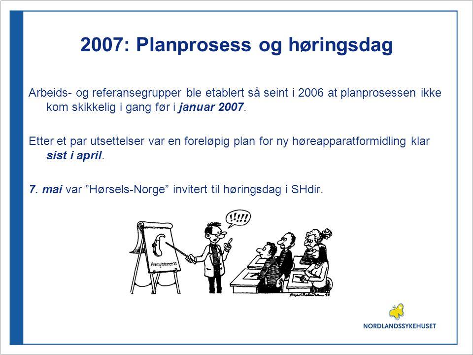 2007: Planprosess og høringsdag