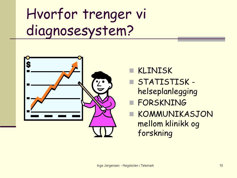 Hvorfor trenger vi diagnosesystem