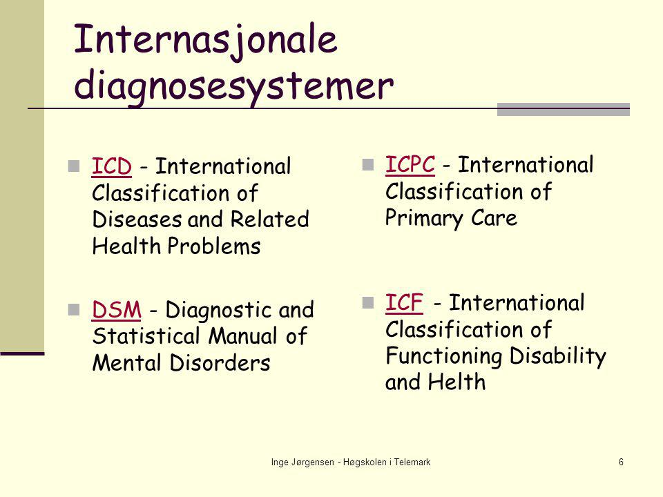 Internasjonale diagnosesystemer